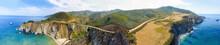 Bixby Bridge And Big Sur Aerial Panoramic View, California