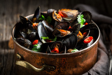 Enjoy Your Mussels With Corian...