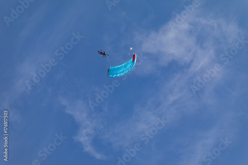 Foto op Aluminium Luchtsport Skydivers in the sky