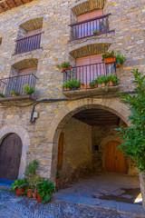 Fototapeta na wymiar Mountain village of Torla Ordesa, Huesca, Spain