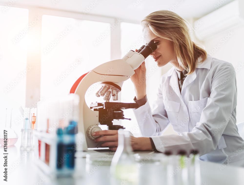 Fototapety, obrazy: Laboratory scientist working