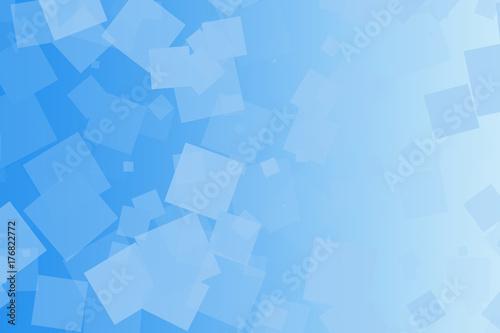 Fondo azul minimalista con degradado y cuadrados. Canvas-taulu