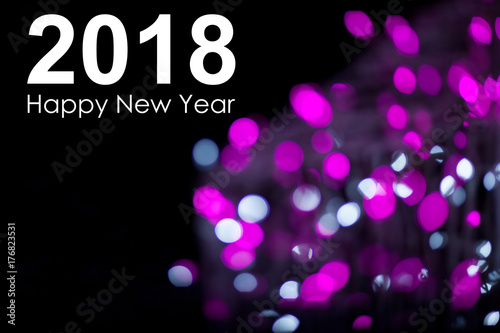 abstract new year background with the inscription 2018 happy new year photo with text and