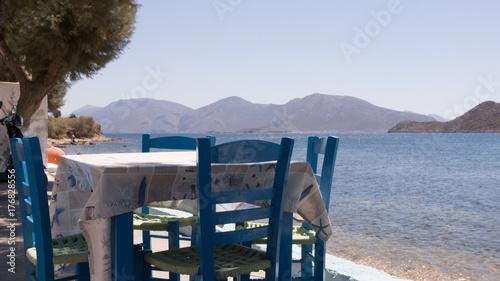Photo ambiance taverne grecque