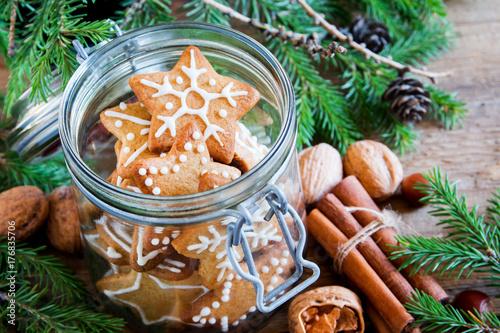 Stickers pour porte Pierre, Sable Gingerbread Christmas cookies