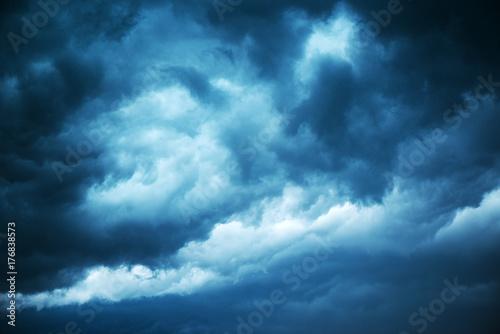 Fotografie, Obraz  Dramatic stormy sky, dark clouds before rain