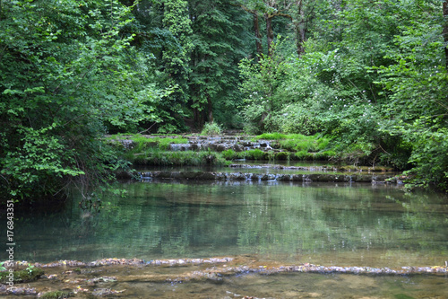Fototapety, obrazy: cascade de Baume les Messieurs, Jura, France