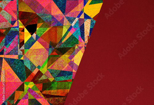 abstract graphic design - expressive colorful background Wallpaper Mural