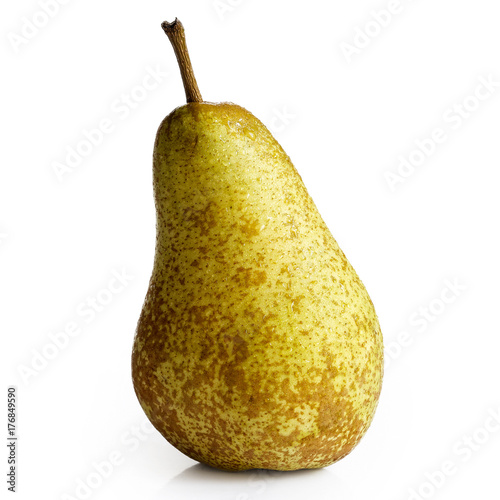 Photo Single abate fetel pear isolated on white.