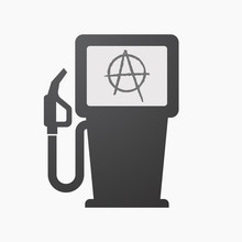 Isolated Fuel Pump With An Anarchy Sign