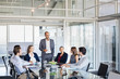 canvas print picture - Business team in a meeting