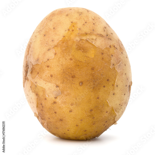 Carta da parati new potato tuber isolated on white background cutout