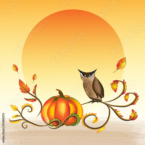 Vector and illustration of October festival, Halloween and