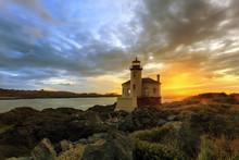Bandon Oregon Lighthouse Sunset
