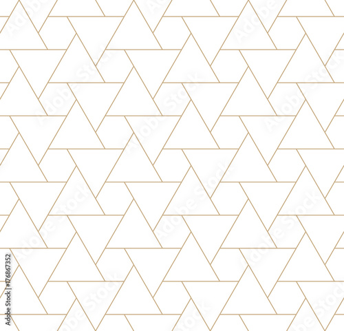 fototapeta na ścianę seamless geometric triangle hexagon grid pattern