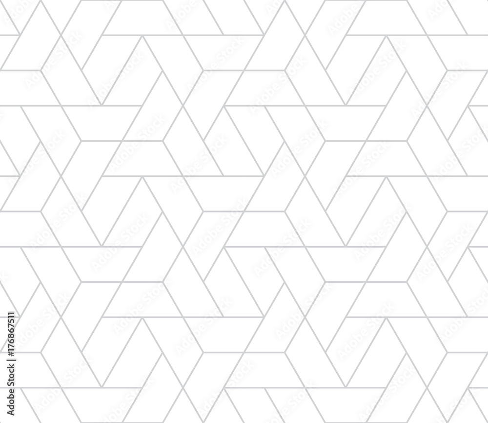 Fototapeta simple seamless geometric grid vector pattern
