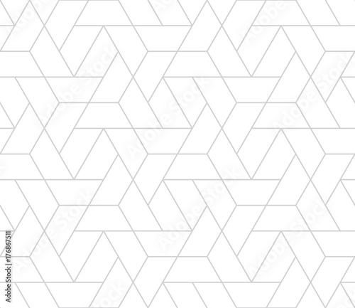 Fototapeta simple seamless geometric grid vector pattern obraz
