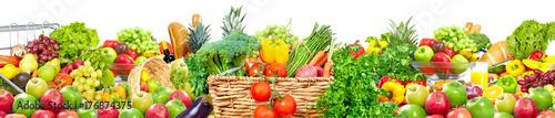 Poster Légumes frais Food background