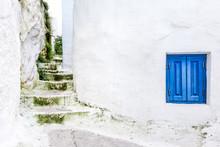 Steps And A Window In A Greek Neighborhood