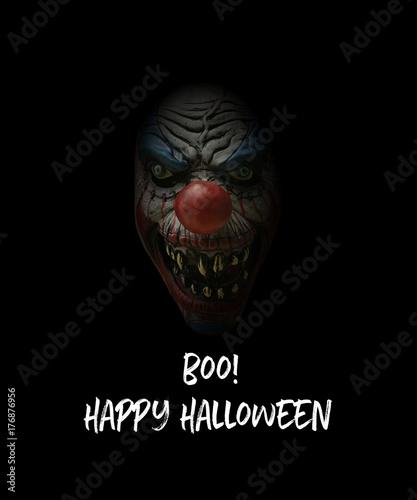 Photo  boo happy halloween scary clown