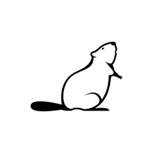 Vector Beaver Silhouette View ...