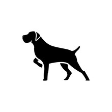 Vector Dog Silhouette View Sid...