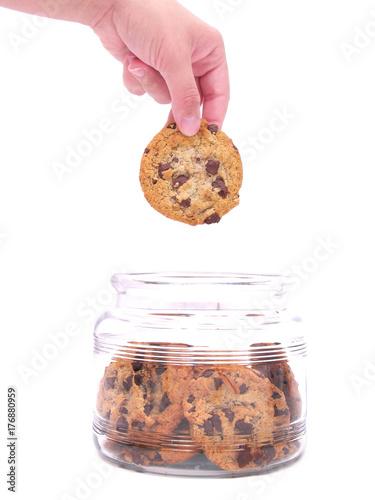 Obraz na płótnie Hand in cookie jar