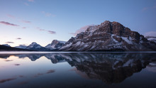 Bow Lake Reflection Before Sunrise, Banff National Park