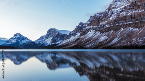 Bow Lake Reflection in Banff National Park, Alberta, Canada