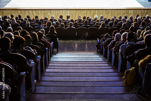 People in the auditorium during the performance Canvas Print