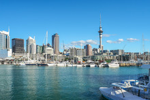Auckland Harbor And Sky Tower,...