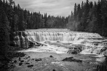 Fototapeta Czarno-biały cascade canada
