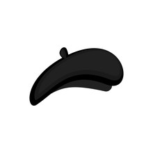 Mime Black Beret Isolated. Mim...