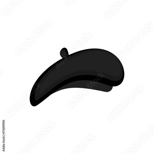 Fotografie, Obraz Mime black beret isolated. Mimic Cap. Vector illustration
