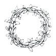 Decorative laurel wreath, isolated on white background