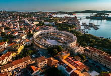 Pula Arena At Sunset - HDR Aer...