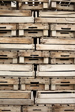 Pile Of Wooden Crates