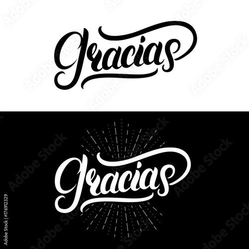 Pinturas sobre lienzo  Gracias hand written lettering. Modern brush calligraphy.