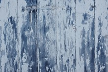 Grunge Wood Texture With White Chipped Paint