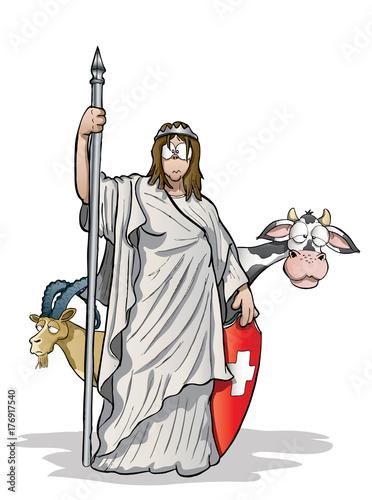 Fotografie, Obraz  helvetia Switzerland