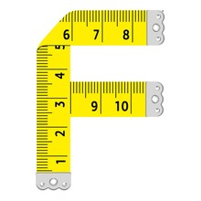 Letter F Ruler Icon, Cartoon S...