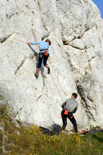 Foto op Plexiglas Alpinisme Wspinaczka górska, Jura Krakowsko Częstochowska