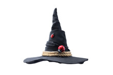 Black Witch Hat Isolated On Wh...