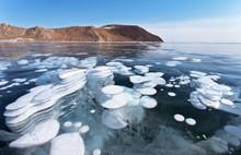 Baikal Lake On A Sunny Februar...