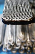 Closeup Of Metal Pattern Texture