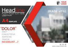 Red And Black Flyer Cover Business Brochure Vector Design, Leaflet Advertising Abstract Background, Modern Poster Magazine Layout Template, Horizontal Annual Report For Presentation.