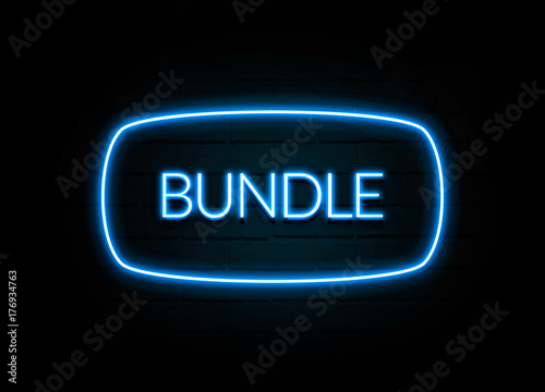 Bundle  - colorful Neon Sign on brickwall Wallpaper Mural