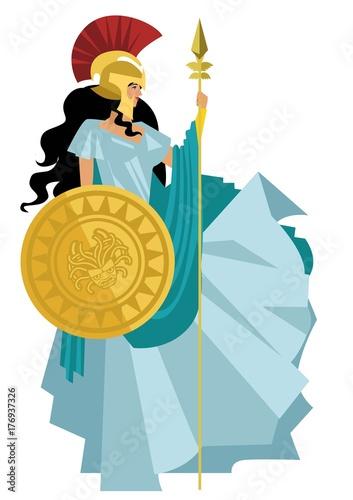 Photo palas athena minerva greek mythology goddess