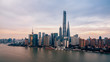 Aerial View of Lujiazui Financial District in Shanghai