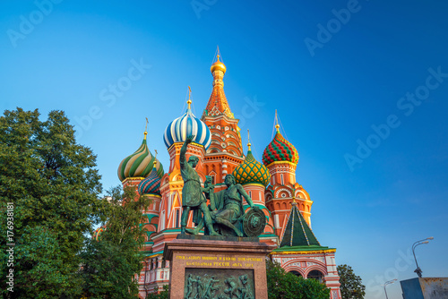 Basil's cathedral at Red square in Moscow